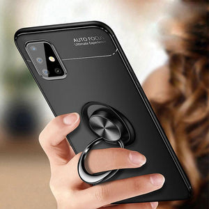 Galaxy M51 Metallic Finger Ring Holder Matte Case
