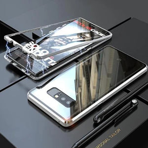 Galaxy Note 8 Electronic Auto-Fit Tempered Glass Magnetic Case