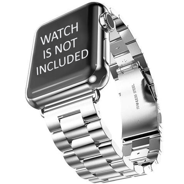 Stainless Steel Band For iWatch Silver 42mm (WATCH NOT INCLUDED)