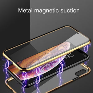 iPhone XS Max Electronic Auto-Fit (Front+ Back) Glass Magnetic Case