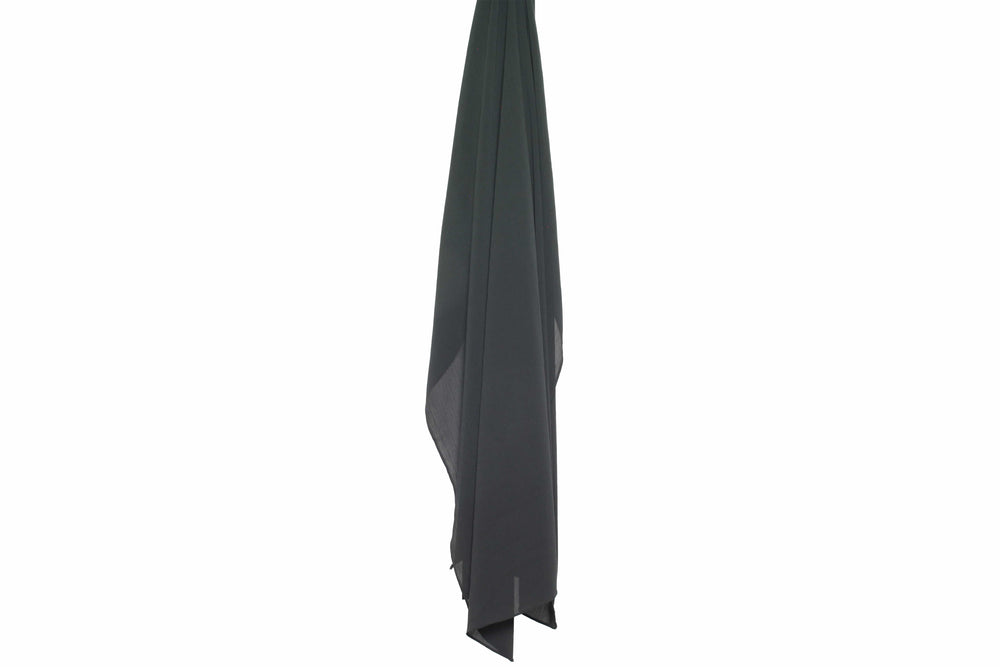 Pitch Black x Wrinkle Chiffon - HS ABAYA