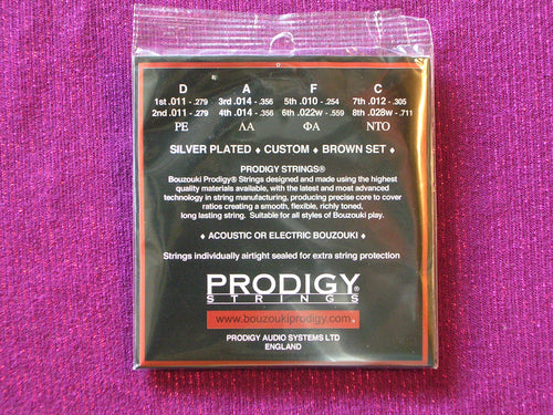 PRODIGY BROWN BOUZOUKI 8 STRINGS SET