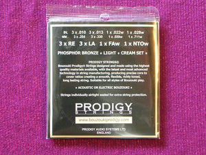 PRODIGY CREAM BOUZOUKI 8 STRINGS SET