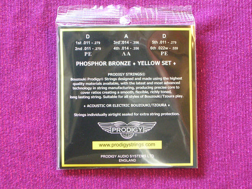 PRODIGY YELLOW BOUZOUKI 6 STRINGS SET