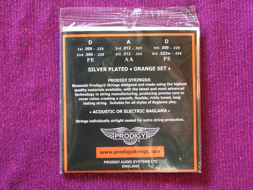 PRODIGY ORANGE BAGLAMA STRINGS SET