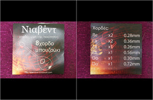 NIAVENT 8 BOUZOUKI  STRINGS SET
