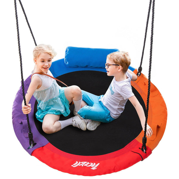 Saucer Tree Swing Set with Pillow and Handles