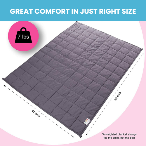 Weighted Blanket for Girls - 7lbs Pink Cotton Blanket