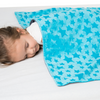 "Two-sided Kids Duvet Cover for Weighted Blanket - 36"" x 48"" Turquoise With Stars"