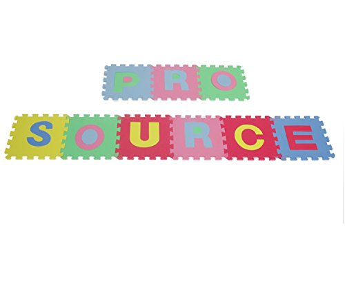 ProSource Kids Puzzle Alphabet, Numbers, 36 Tiles and Edges Play Mat