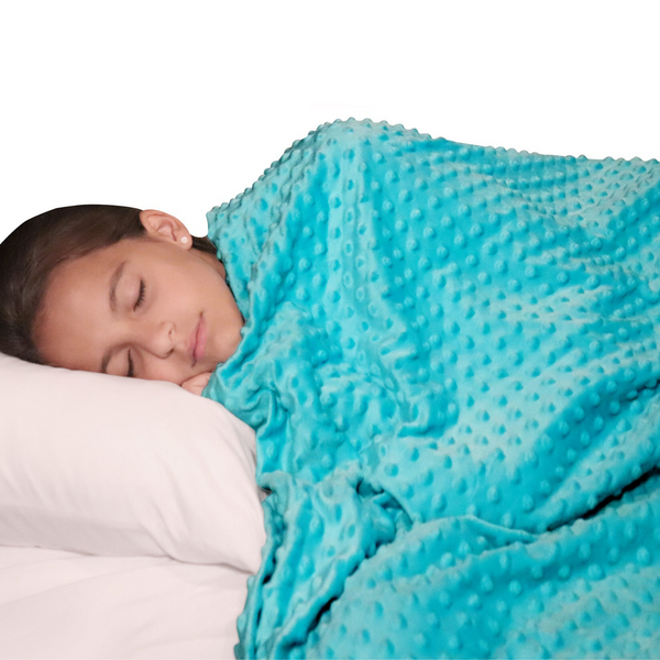 "Two-sided Duvet Cover for Weighted Blanket - turquoise 48"" x 72"""