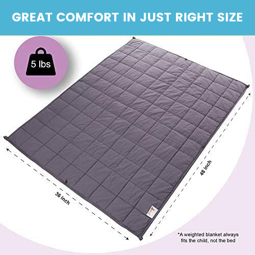 Calming Weighted Blanket for Kids - 5 Lbs 36'' x 48''