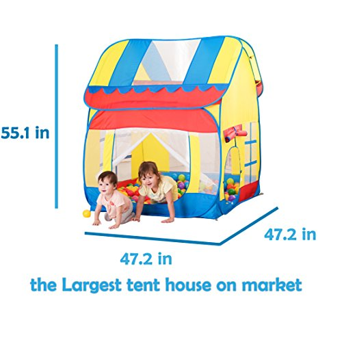 Truedays Kids Outdoor Indoor Fun Play Big Tent Playhouse, 55.1x47.2-Inch