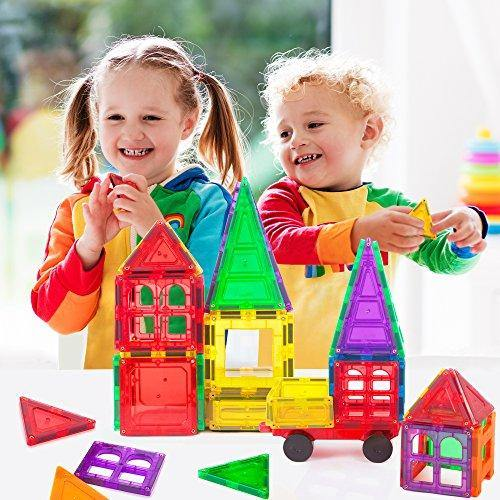 Magnetic building blocks 60 piece set, strongest shape tiles