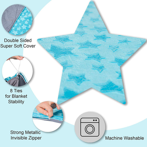 Two-sided Kids Duvet Cover for Weighted Blanket - 36