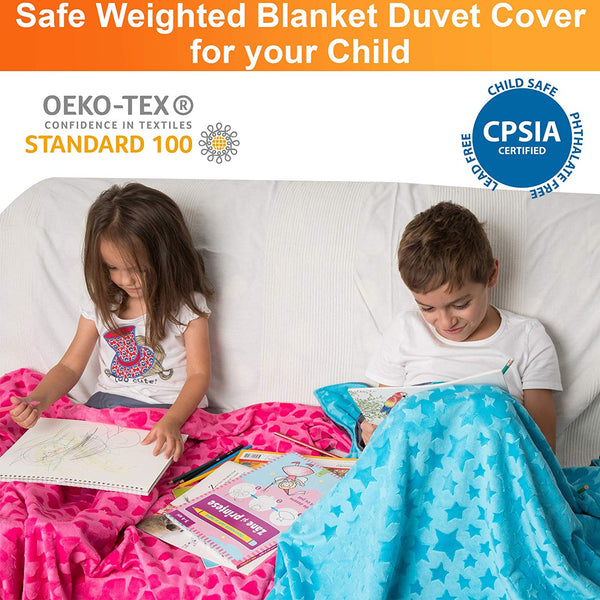 Reversible Kids Duvet Cover for Weighted Blanket for Hot and Cold Sleepers - 36