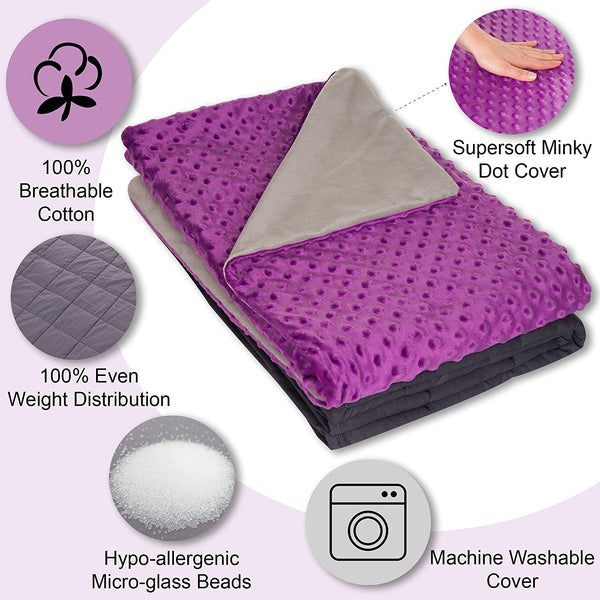 Weighted Blanket for Kids - Blanket for Sleeping with Minky Cover 7 lbs 41