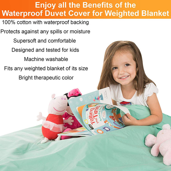 Waterproof Duvet Cover for Weighted Blankets 36