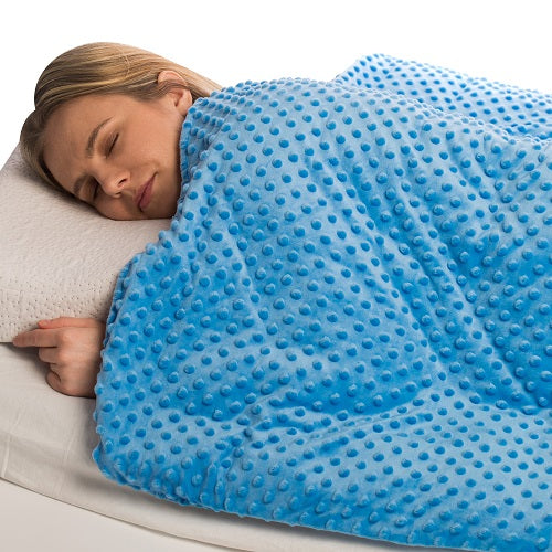 15 lbs Weighted Blanket with Removable Cover - 48 x 72 - Sky Blue