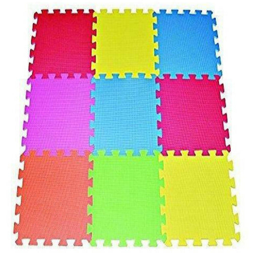 POCO DIVO 9-tile Multi-color Exercise Mat Solid Foam