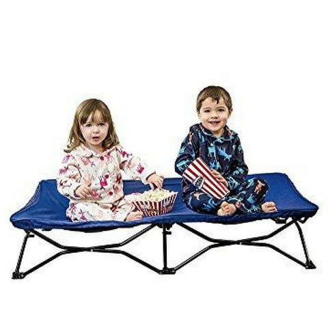 Portable Toddler Bed, Includes Fitted Sheet and Travel Case, Royal Blue