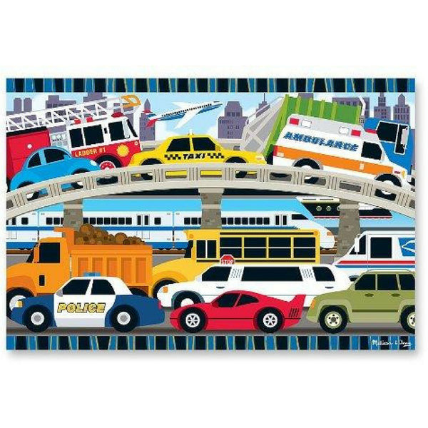 Traffic Jam Jumbo Jigsaw Floor Puzzle