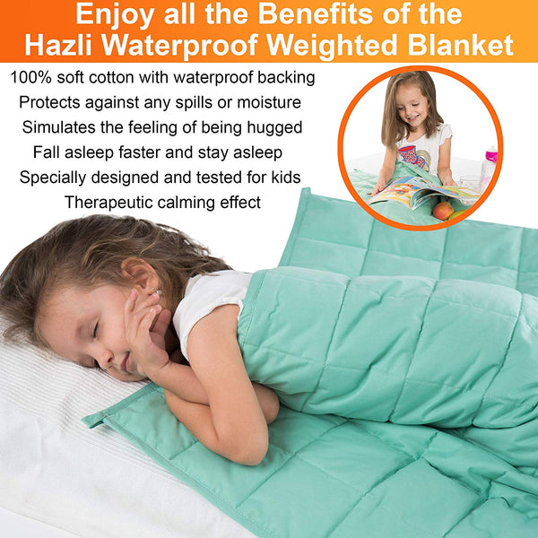 7lb WATERPROOF Calming Weighted Blanket for Kids – 41