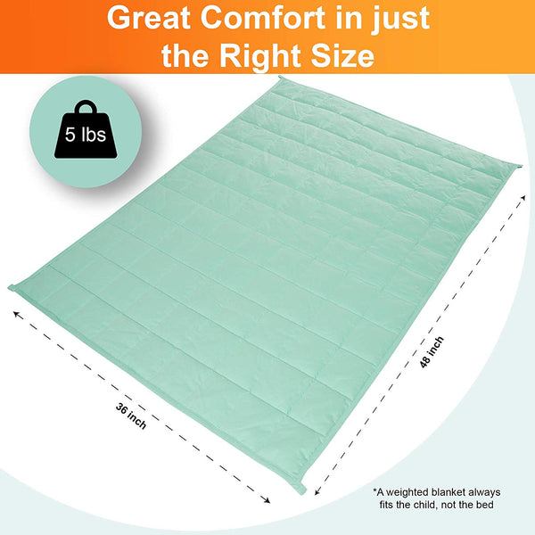 5 Lb WATERPROOF Calming Weighted Blanket for Kids – 36