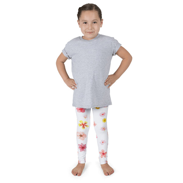 Spring Flower Design Girl's Leggings