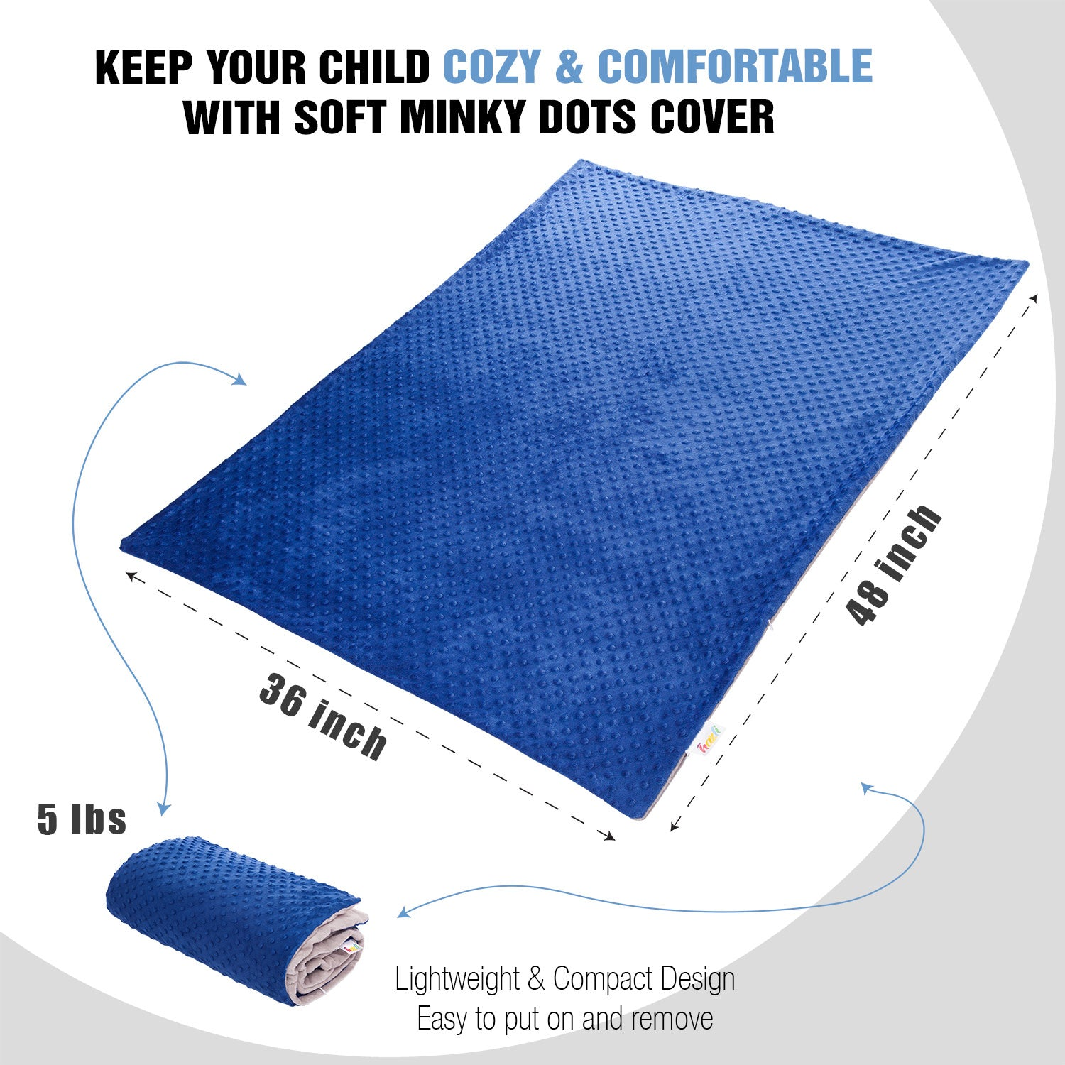 blue weighted blanket size