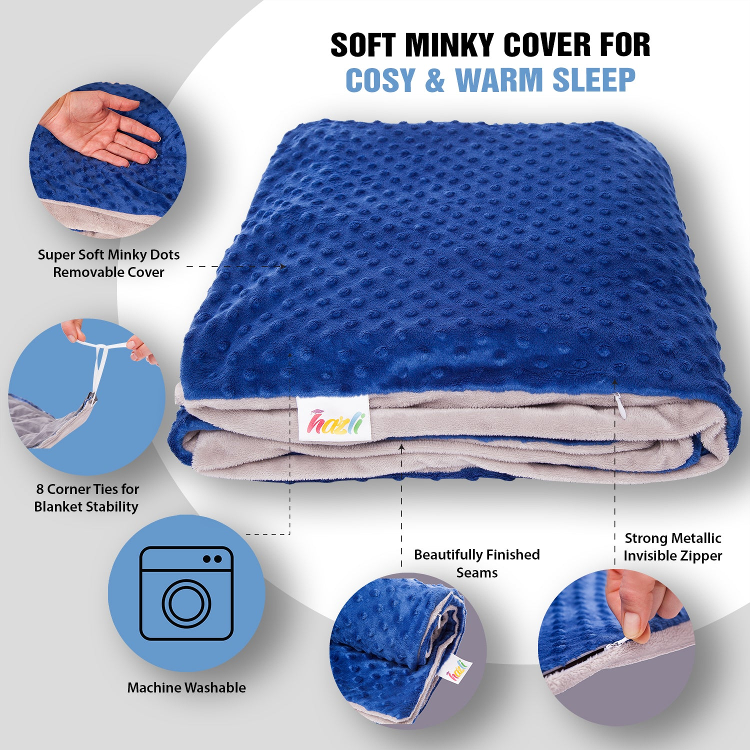 blue weighted blanket for boys
