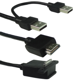 On-Lap proprietary HDMI-A&USB-A to dock port cable - Beyond Geek