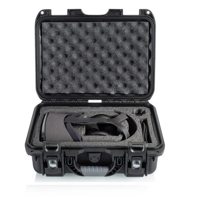Waterproof and Dustproof Case with Custom Cut Foam Designed for Oculus Quest All-in-One VR Headset (Indent Basis)