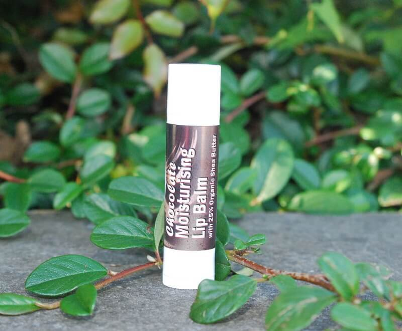 chocolate moisturising lip balm with 25% organic shea butter 5 ml vegan