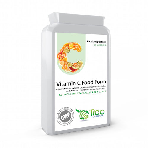 Vitamin C (Food Form) 60 Capsules Ⓥ