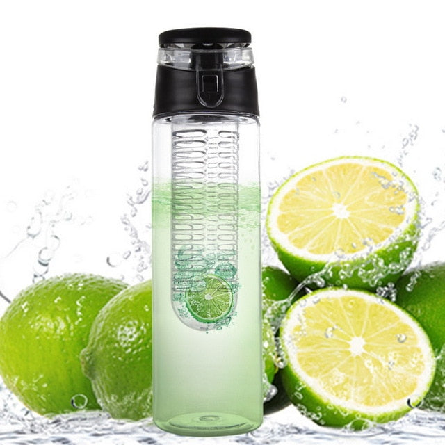 800 ML Portable fruit Infusing Infuser Water bottle Sports Lemon Juice Bottle Flip Lid for kitchen table Camping travel outdoor