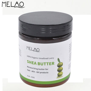 MELAO 100% Nature Pure Organic Natural Chemical Free No Additives Shea Butter Moisturizing Skin Care Product 250ml