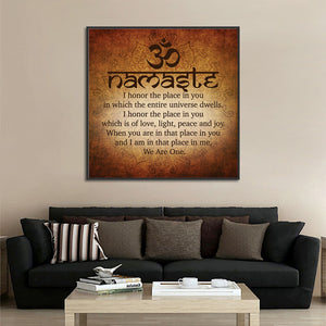 Meditation Buddha Painting Namaste Quotes Art Calligraphy Canvas Print Picture Wall Art Bedroom Decoration Poster Living Room