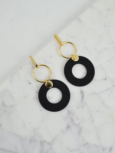 Double Ring Earrings by ANGELS WHISPER