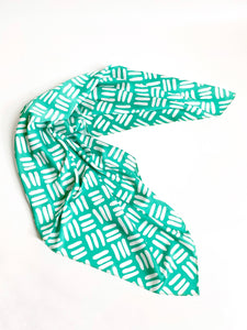 Geometric Green Bandana by Angels Whisper