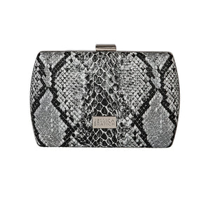 Adeline Clutch – Black Snake