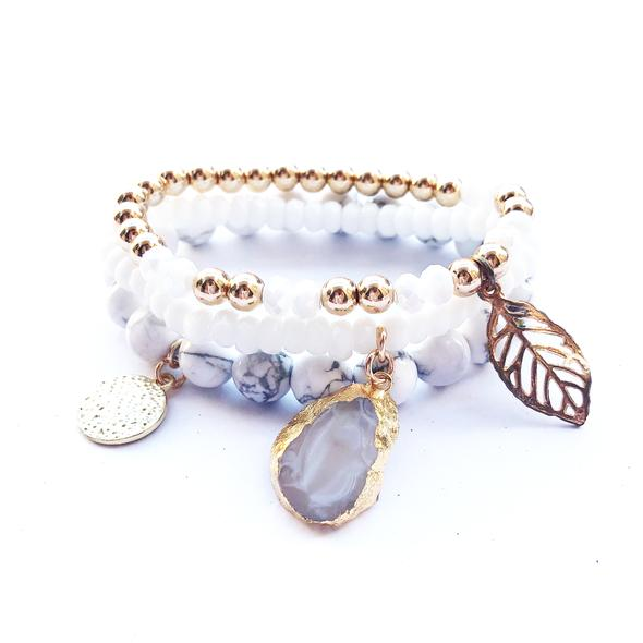 Angel Heart Bracelet Stack - Miana Jewels