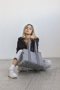 Aria Grey Tote Bag by Neoprene Bags