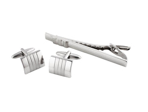 Men's Cufflinks & Tie Bar Set - BLAZE
