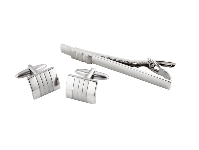 Cufflinks & Tie Bar Set by BLAZE