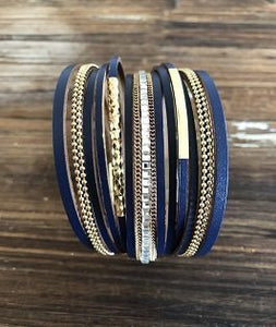 Claire Navy Bracelet - PB Accessories