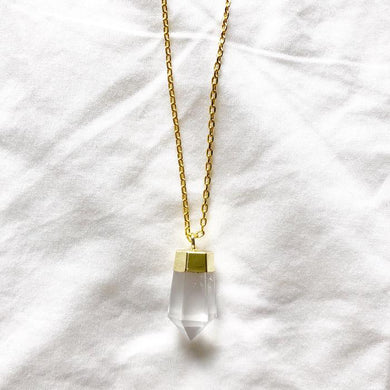 Clear Quartz Necklace - Miana Jewels
