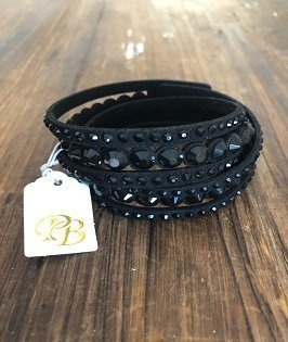 Crystal Black Bling Bracelet - PB Accessories