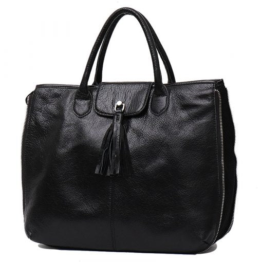 Darling Black Leather Handbag by Vera May