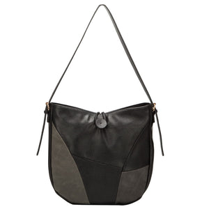 ELARA Black Patch Handbag by Vera May